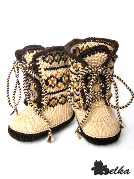 осинка вязание для детей пинетки.
