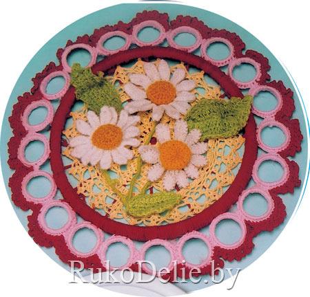 вязаные цветы крючком.  Схемы вязанных крючком цветов могут пригодиться тем, кто любит украшать дом рукотворными...