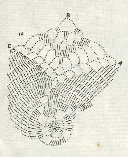 Шестиугольный мотив вязанный