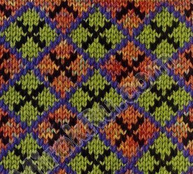 Жаккардовое вязание спицами.