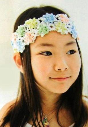 повязка на голову для девочки крючком - Выкройки одежды для детей и...