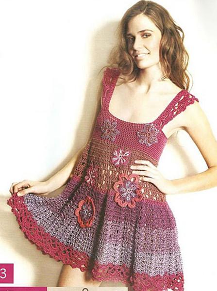 Понравилось.  Процитировано.  Вязание для женщин./Платье, юбки, сарафаны, костюмы. в цитатник.