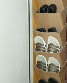 Как сделать полку для обуви из картона своими руками 64