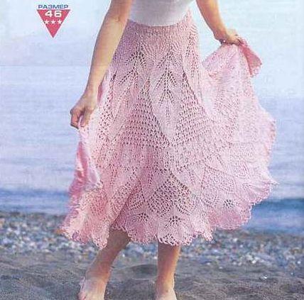 Ажурная многослойная юбка