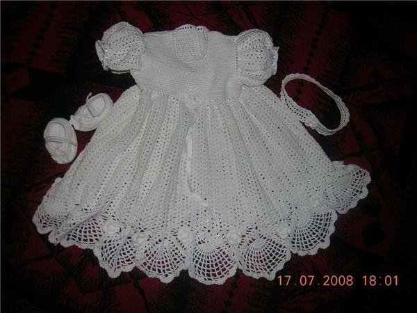 Крестильное платье крючком.