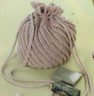 как сделать ручки для вязаной сумки.