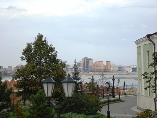 Вид с о стен Казанского Кремля