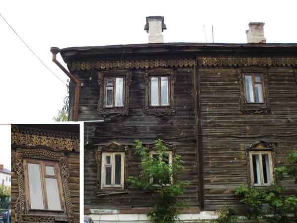 Казань.Старинный деревянный дом на Япеева