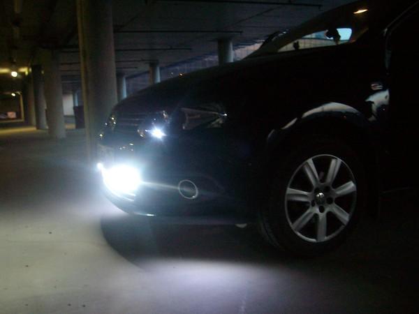 Дневные ходовые огни на VW Polo седан