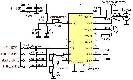 Генератор <b>синусоидального</b> <b>сигнала</b>
