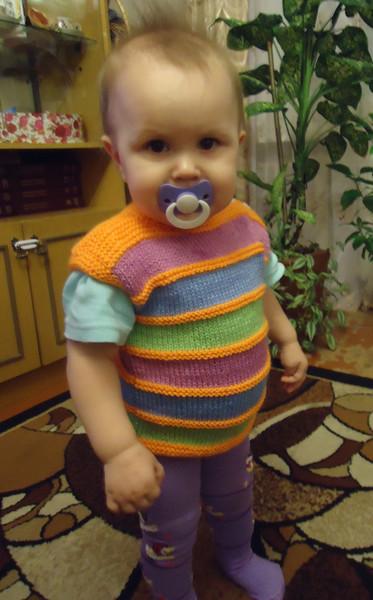 вязаные жилетки для детей вязание для