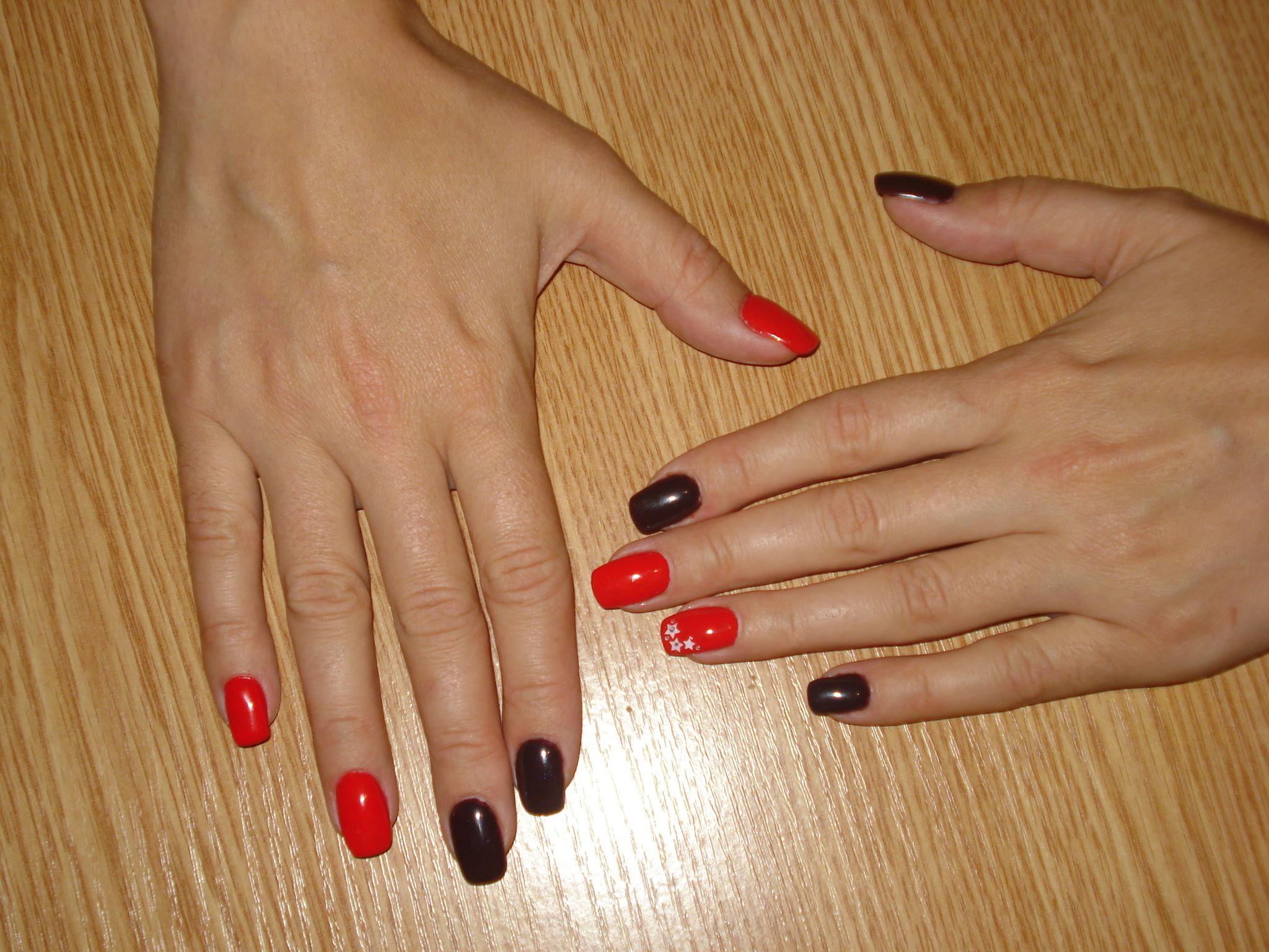 Ногти красный гель фото
