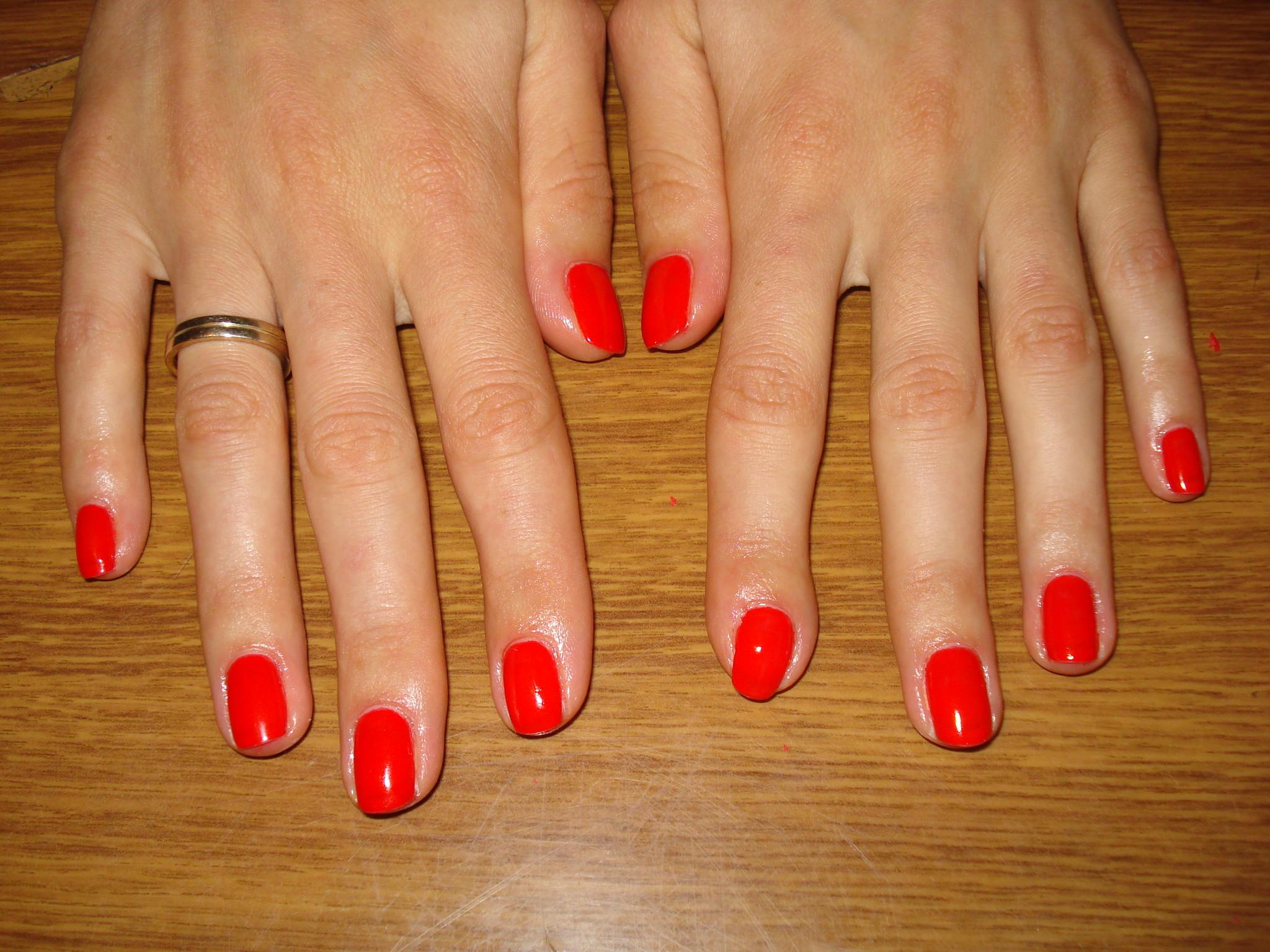 Гель лак на натуральных ногтях фото