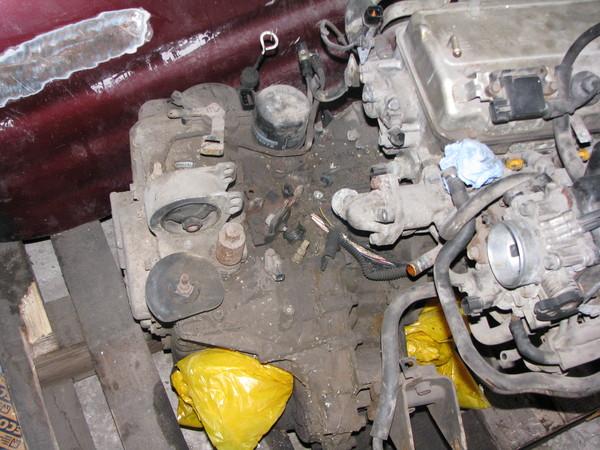 Двигатель 4G64 работал