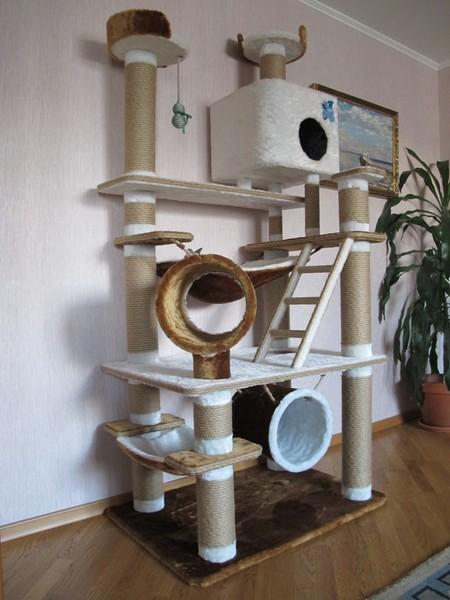 Как сделать игровой комплекс для кошки
