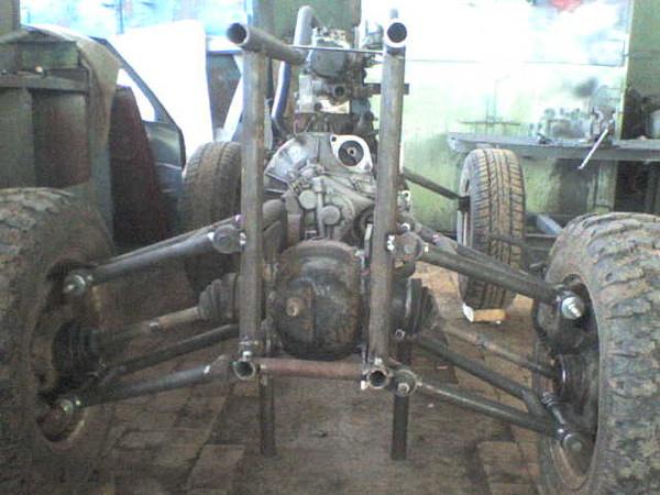 Самодельные трактор и мотоцикл