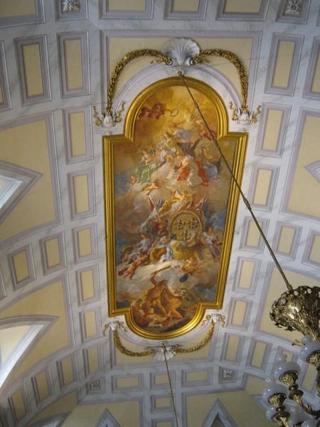 роспись плафона в зале, Казерта–королевский дворец
