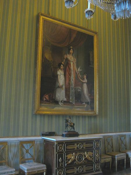 портрет Джулии Клари с дочерми Зинаидой и Карлоттой