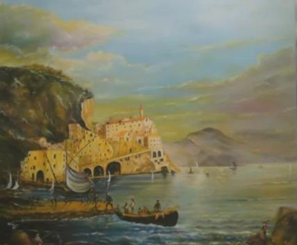 Амальфи. Pittore Giuseppe Pietrarelli
