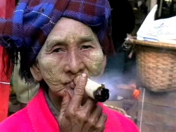 Бирманская махорочная сигарилла в обертке из бамбука