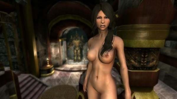 Секс мод к Skyrim производит риплейсинг женских тел, текстуры взяты из Obli