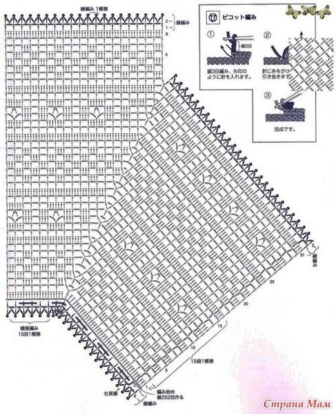Кардиган филейным вязанием схемы 15