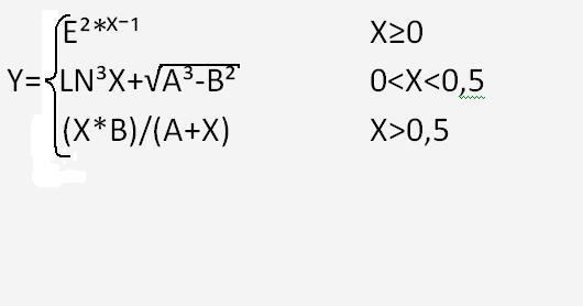 Помогите сделать базовую блок-схему не линейной программы.