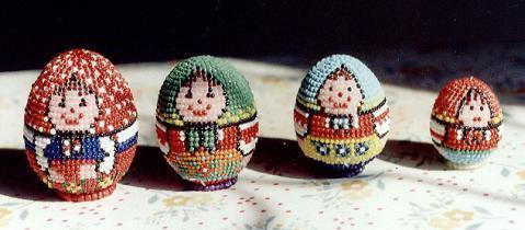 Мои работы.  Все представленные в галерее яйца, кроме первого, сплетены по разработанным мной схемам.