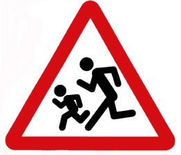 Дорожный знак дорогу переходят дети