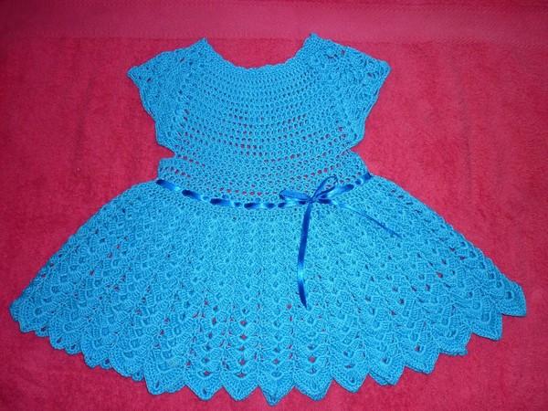 Крючком летних детских платьев