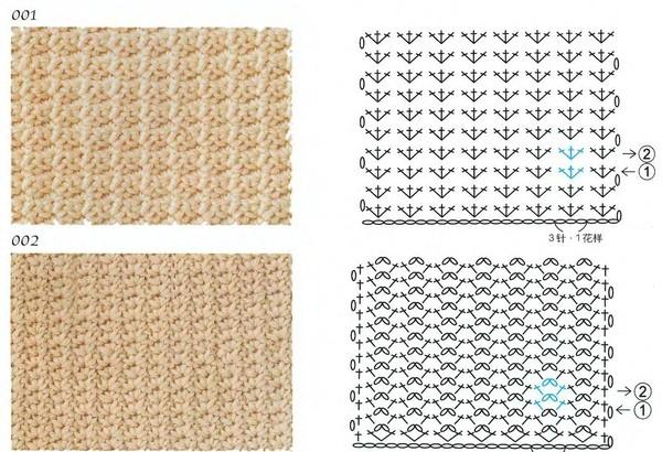 узоры вязания крючком со