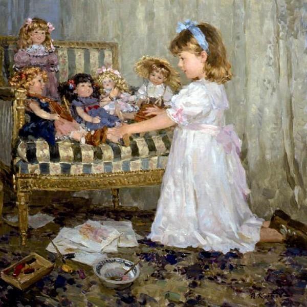 Фото Девочка с куклами