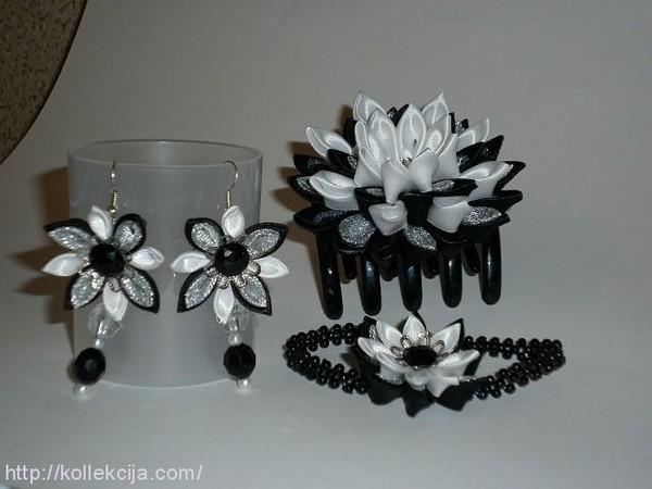 Рукоделие цветы из атласных лент