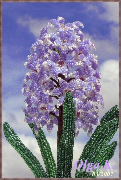 бисероплетение схемы цветы гиацинт - Сайт о бисере.