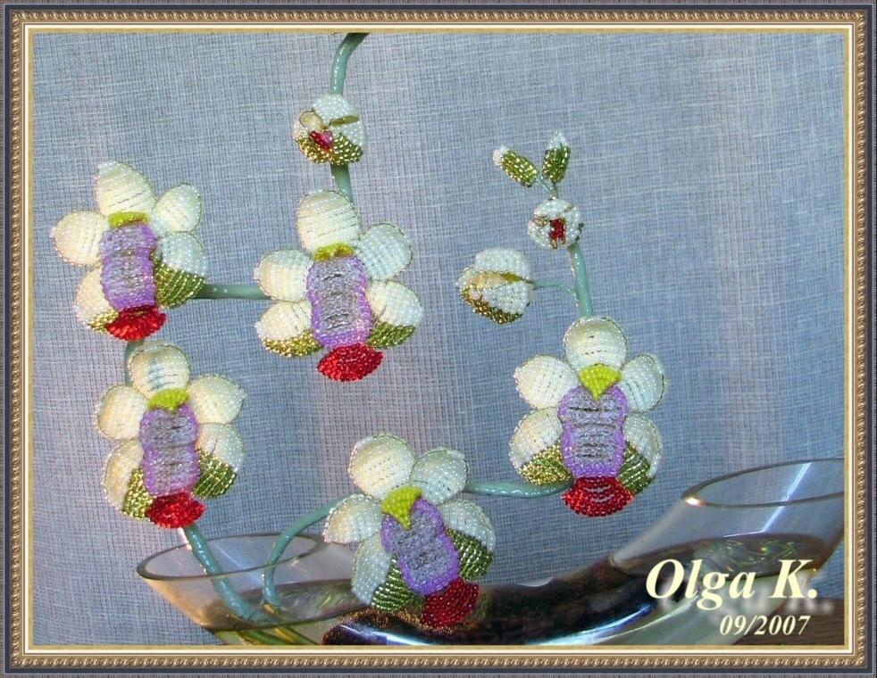 бисероплетение орхидея.