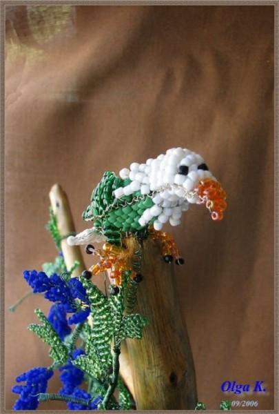 Птицы из бисера.