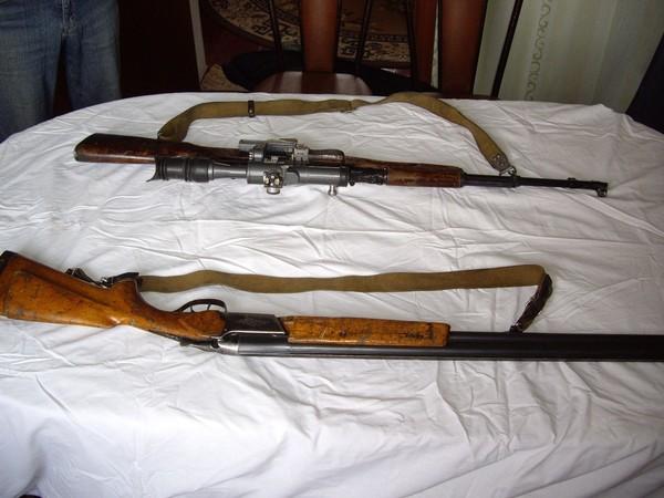 Продаю два ружья Тоз-34ЕР и карабин ОП-СКС с прицелом.