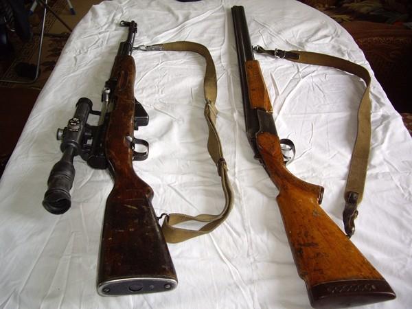 Продаю два ружья Тоз-34ЕР и карабин ОП-СКС с прицелом - 1.