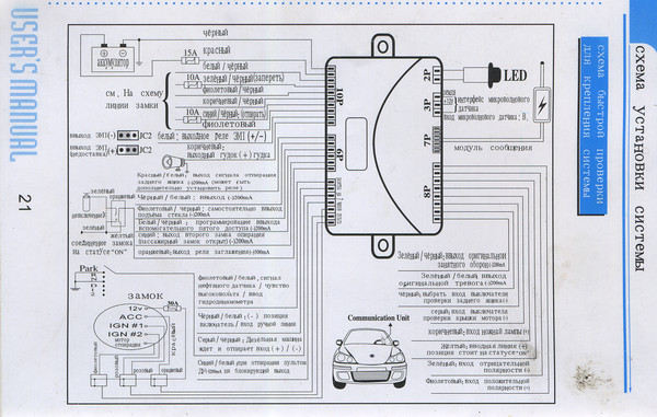 Нужна помощь в подключении сигнализации к замку зажигания ВАЗ-2106.  Схема подключения такая.