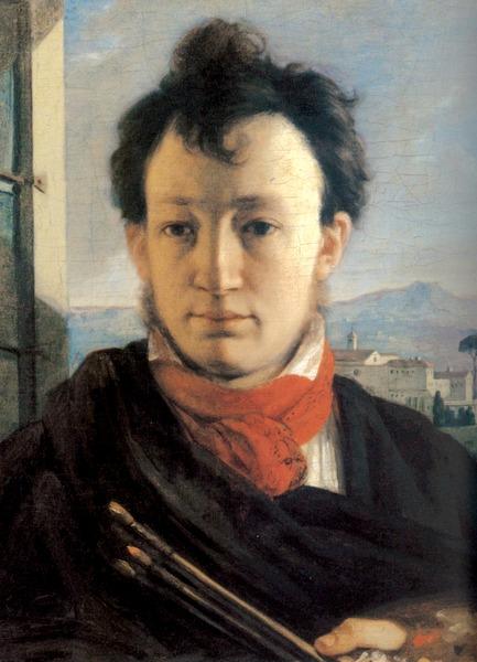 Автопортрет с палитрой и кистями в руке, 1805-06, ГТГ