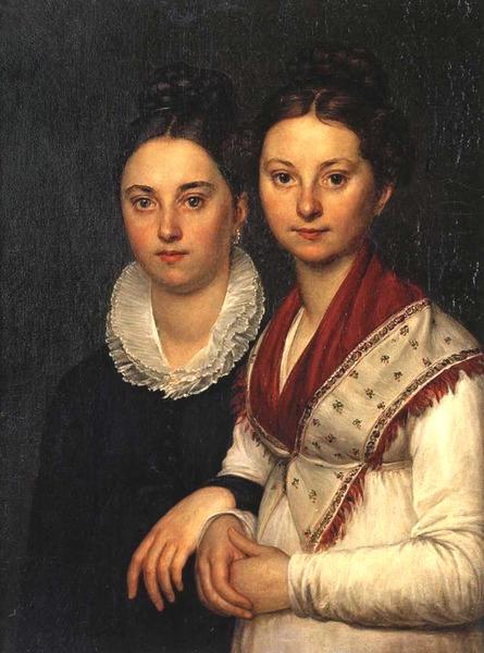 Портрет В.И. и С.И.Мартос, Середина 1810-х