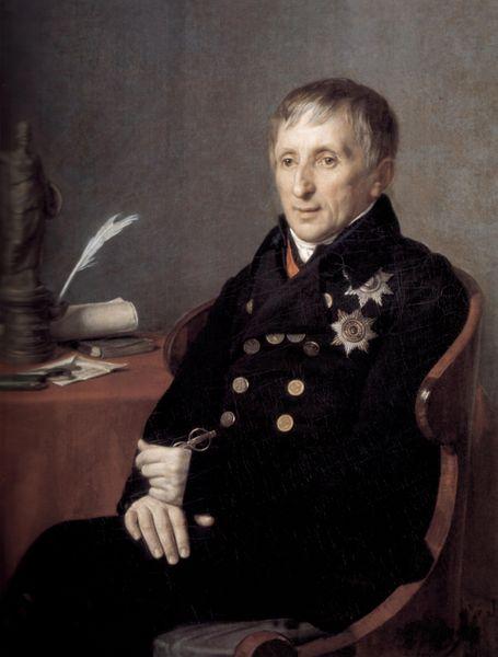 Портрет президента академии художеств А. Н. Оленина