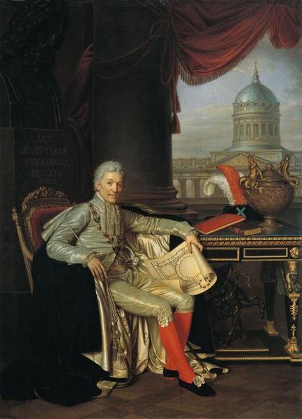 Портрет президента Академии художеств А.С.Строганова, 1814г