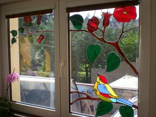 Витражное стекло своими руками фото