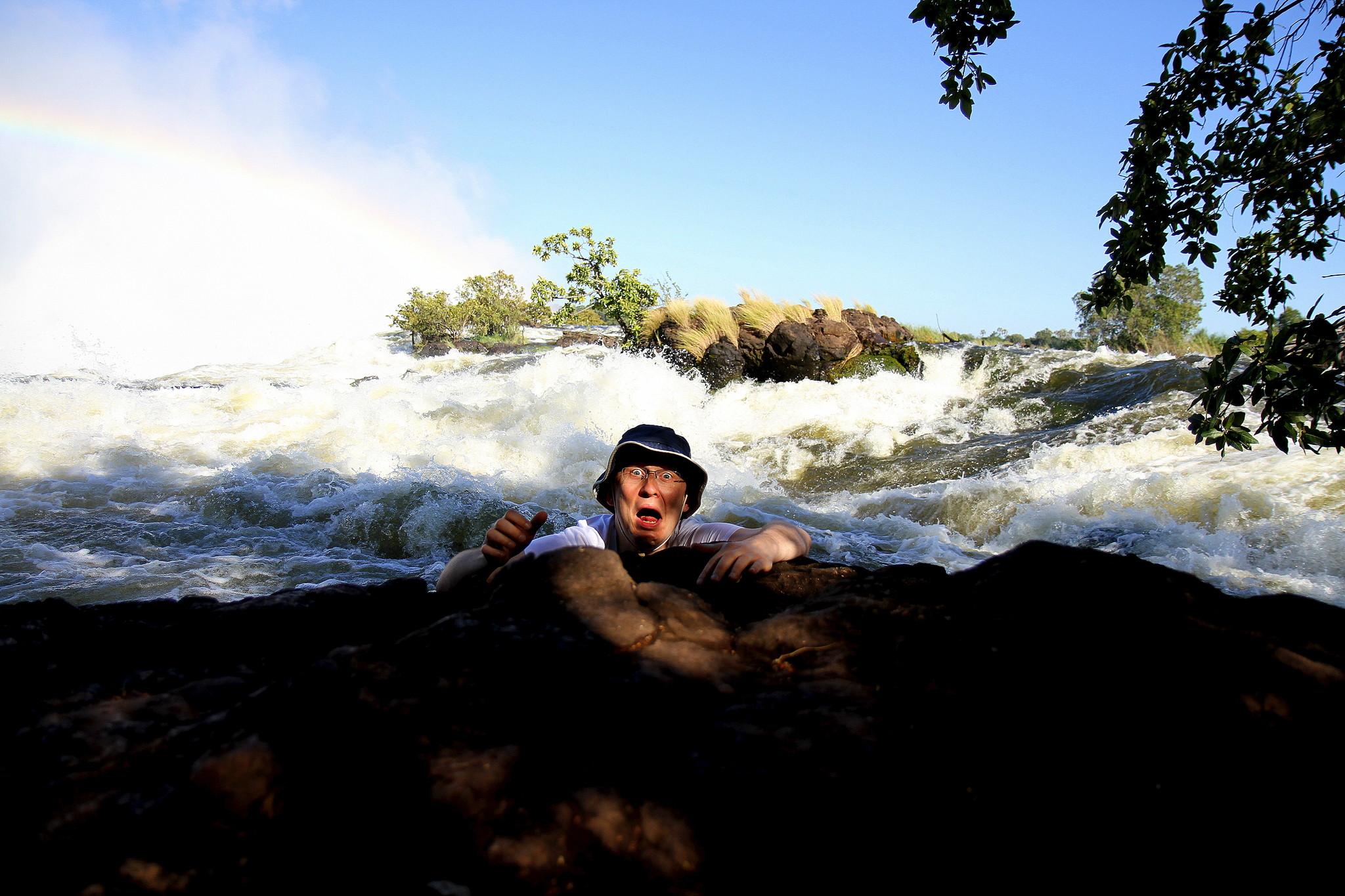 Африка замбия водопад виктория