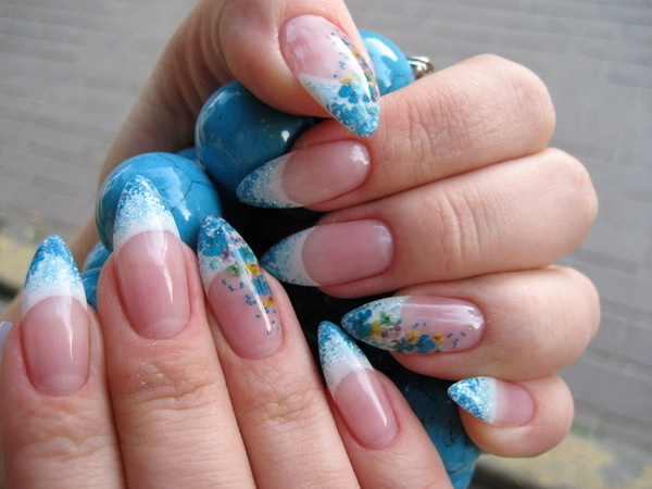 Простые рисунки цветы на ногтях в домашних условиях