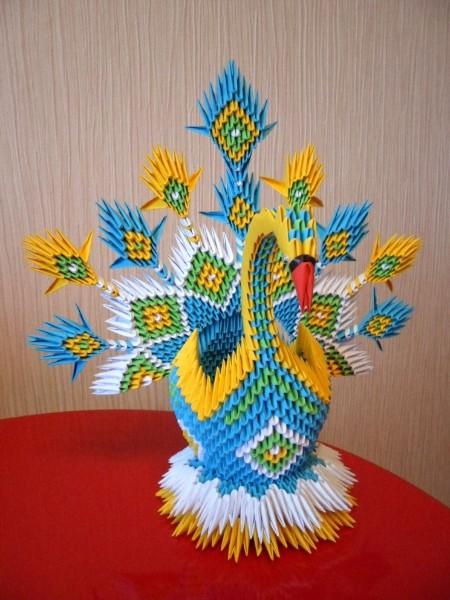 Модульное оригами корзина схема.
