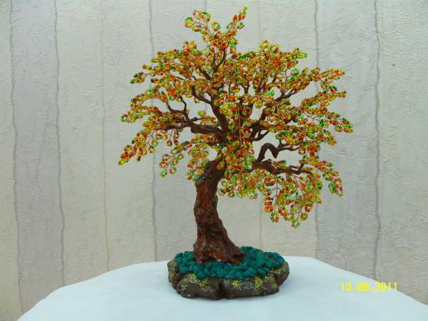 Деревья из бисера новые мир бисера