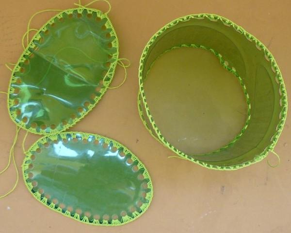 Круглые шкатулки из пластиковых бутылок
