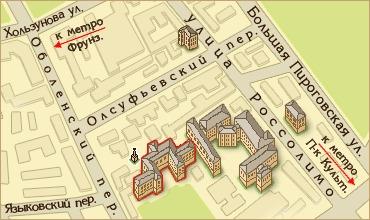 Схема  Проезда  Клиники им. С.С. Корсакова